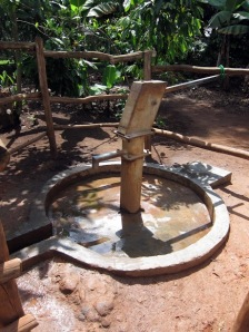 A water well built as part of our project in Kayunga County, Uganda